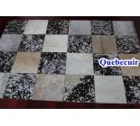 970026 G  cowhide rug tapis peau de vache PATCHWORK