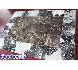 970029 G  cowhide rug tapis peau de vache PATCHWORK MG
