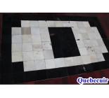 970041 G  cowhide rug tapis peau de vache PATCHWORK