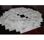970051 G  cowhide rug tapis peau de vache PATCHWORK
