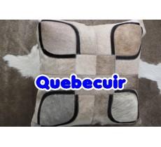 990276  coussin peau de vache cowhide pillow
