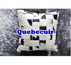 990552 coussin pillow peau de vache cowhide