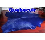 991072 cowhide rug tapis peau de vache  BLUE et