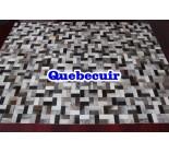 999844 cowhide rug tapis peau de vache PATCHWORK