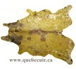 999916 cowhide rug tapis peau de vache METALLIC GOLD
