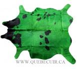 999917 cowhide rug tapis peau de vache GREEN