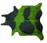 999952  cowhide rug tapis peau de vache GREEN