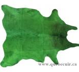 999985 cowhide rug tapis peau de vache green