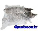 A 10011  Cowhide rug Tapis peau de vache    Collection Quebecuir Premium