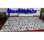 A 10044 Big grey patchwork cowhide rug Collection Quebecuir Premium