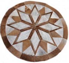 A 10063 Cowhide rug Tapis peau de vache PATCHWORK PAMPA Collection Quebecuir Premium
