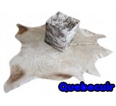 A 10610  Cowhide rug Tapis peau de vache   CHAMPAGNE  Collection Quebecuir Premium