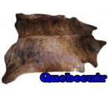 A 10184  Cowhide rug Tapis peau de vache    Collection Quebecuir Rustique