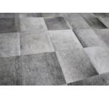 A 10229 Cowhide rug Tapis peau de vache PATCHWORK GRIS GREY  Collection Quebecuir Premium