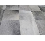 A 10231 Cowhide rug Tapis peau de vache PATCHWORK GRIS GREY  Collection Quebecuir Premium