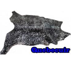 A 10365  Cowhide rug Tapis peau de vache  SILVER   METALLIC XXXL  SUPER BIG SIZE  Collection Quebecuir Premium