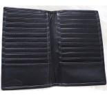 A 10397 LEATHER UNISEX WALLET NOIR BLACK