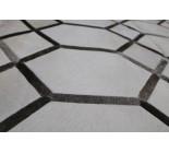 A 10491  Cowhide rug Tapis peau de vache PATCHWORK GRIS GREY    Collection Quebecuir Premium