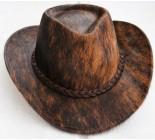 100 % Chapeau western en peau de vache A 10497