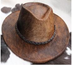 100 % Chapeau western en peau de vache A 10609