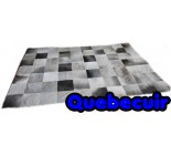 A 31094 Cowhide rug Tapis peau de vache GRIS GREY PATCHWORK BIG SIZE Collection Quebecuir Premium