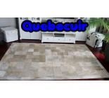 A 32156 Cowhide rug Tapis peau de vache GOLDEN METALLIC PATCHWORK  XXXL BIG SIZE Collection Quebecuir Premium
