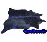 A 40010 Cowhide rug Tapis peau de vache BLUE METALLIC Collection Quebecuir Premium SUPER BIG SIZE