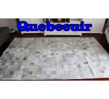 A 9406 Cowhide rug Tapis peau de vache XXXL SUPER BIG SIZE  PATCHWORK  SILVER METALLIC   Collection Quebecuir Premium