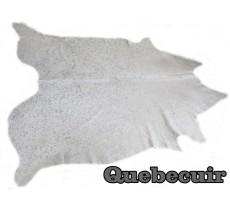 A 9413 Cowhide rug Tapis peau de vache XXXL METALLIC SILVER ARGENT    Collection Quebecuir Premium