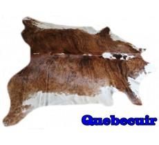 A 9517  Cowhide rug Tapis peau de vache    Collection Quebecuir Premium