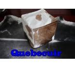 A 9586  POUF  peau de vache  cowhide   Collection Quebecuir Premium