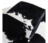 A 9598  POUF  peau de vache  cowhide   Collection Quebecuir Premium
