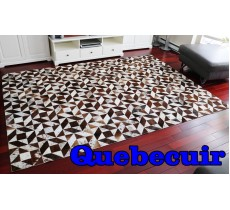A 9651 Cowhide rug Tapis peau de vache PATCHWORK BIG SIZE  Collection Quebecuir Premium