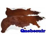 A 9862  cowhide rug tapis peau de vache   Collection Quebecuir  Canada Rustique