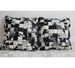 20`cowhide Pillow Cover Black And White