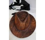 100 % Chapeau western en peau de vache