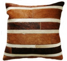 PI 158 Collection Quebecuir Premium Coussin Cowhide   Pillow