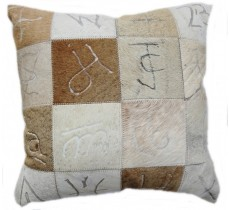 PI 163 Collection Quebecuir Premium Coussin Cowhide   Pillow