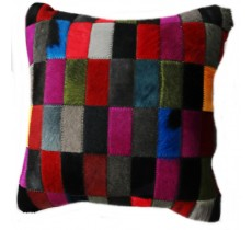 PI 166 Collection Quebecuir Premium Coussin Cowhide   Pillow