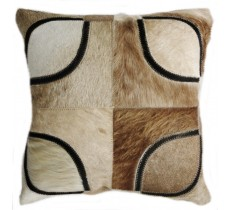 PI 168 Collection Quebecuir Premium Coussin Cowhide   Pillow