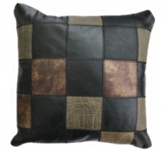 PI 890  Collection Quebecuir Premium Coussin Cowhide   Pillow