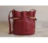 Red Genuine Leather Handbag. Cod. 03